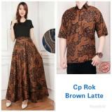 Cj Collection Couple Batik Rok Lilit Maxi Panjang Wanita Jumbo Long Skirt Dan Atasan Kemeja Pria Shirt Shera Asli