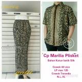 Harga Cj Collection Couple Batik Rok Span Plisket Panjang Wanita Jumbo Dan Atasan Kemeja Pria Jumbo Goldina Couple Ori