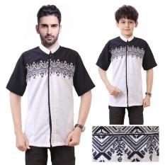 Cj Collection Couple koko bapak dan anak atasan kemeja pria dewasa dan kemeja anak-anak shirt Abizar