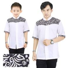 Cj Collection Couple koko bapak dan anak atasan kemeja pria dewasa dan kemeja anak-anak shirt Andi