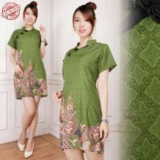 Cj collection Dress batik cheongsam maxi pendek wanita jumbo mini dress Lenicka