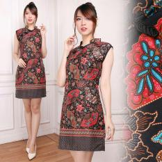 Cj Collection Dress Batik Cheongsam Maxi Pendek Wanita Jumbo Mini Dress Monika M Xl Diskon Banten