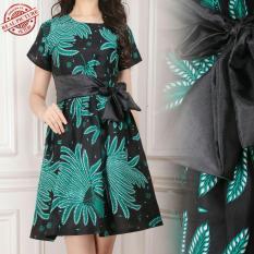 Cj collection Dress batik maxi pendek wanita mini dress Zella 6a16e81138