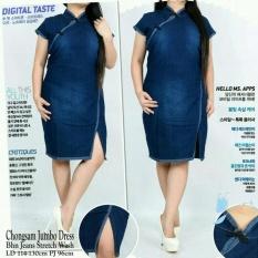 Ulasan Lengkap Cj Collection Dress Cheongsam Jumbo Jeans Wanita Jumbo Mini Dress Sansan