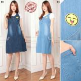 Diskon Cj Collection Dress Jeans Maxi Pendek Wanita Jumbo Mini Dress Serafin