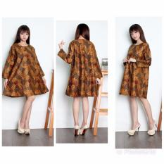 Toko Cj Collection Dress Maxi Pendek Atasan Blouse Long Tunik Kemeja Batik Wanita Jumbo Shirt Mini Dress Agatha M Xl Tunik Di Banten