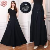 Dimana Beli Cj Collection Rok Jeans Maxi Payung Panjang Wanita Jumbo Long Skirt Adisah Rok