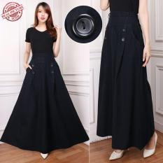 Jual Cj Collection Rok Jeans Maxi Payung Panjang Wanita Jumbo Long Skirt Adisah Di Banten