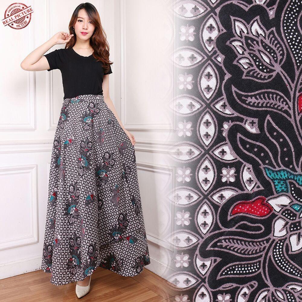 Good quality product Cj collection Rok lilit batik maxi payung panjang wanita jumbo long skirt Sharon