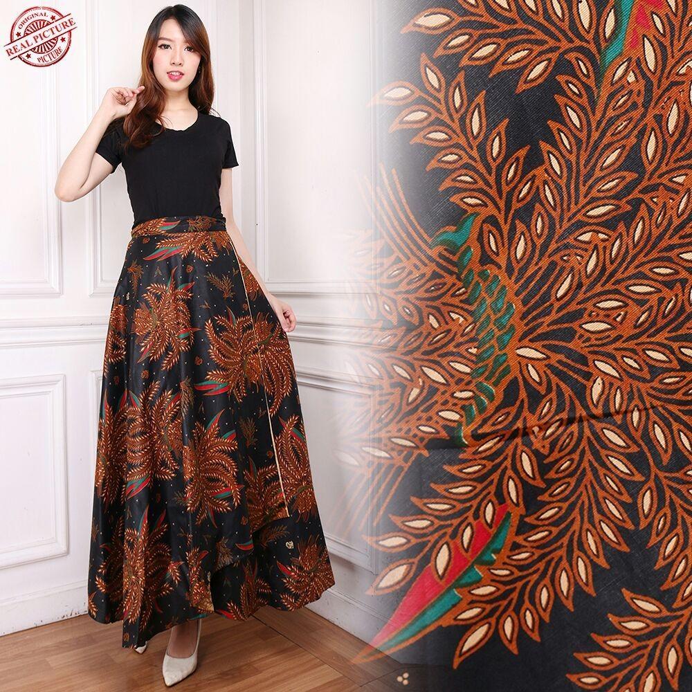 Good quality product Cj collection Rok lilit batik maxi payung panjang wanita jumbo long skirt Stella