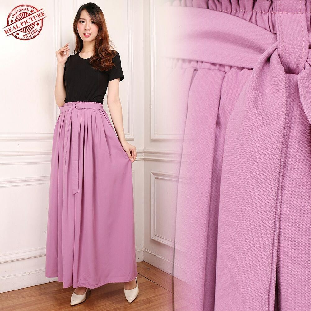 Good quality product Cj Collection Rok maxi payung panjang wanita jumbo long skirt Haruna