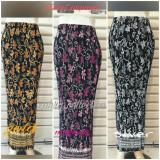 Cj Colletion Rok Span Plisket Batik Wanita Jumbo Long Skirt Carly Gold Murah