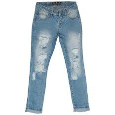 Ckey Celana Panjang Wanita Boyfriend Ripped Jeans 710 - Sobek Tidak Tembus Kulit