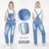 Ckey Ori Celana Panjang Overall Ripped Jeans Gak Tembus Kodok Wanita 828 Terbaru