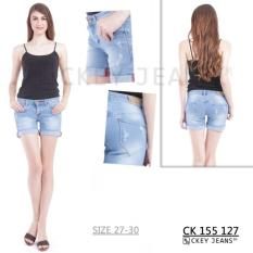 Ckey Ori Celana Pendek Ripped Jeans / Hot Pants/ Hotpants Jeans Wanita 127