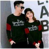 Review Toko Cl Sweater Pasangan Youme Forever Black Maroon Pria Wanita Fashion Couple Baju Kapel Sweater Kembaran Baju Pasangan