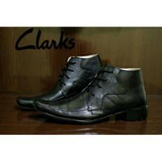 Clarks Pantofel Leather Black High Tali