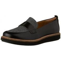 Clarks Wanita Glick Avalee Abu-abu Tekstil/Kulit Hitam Combo Sepatunya 6.5 B-Intl