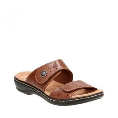 Clarks Womens Leisa Lacole Slide Sandal, Tan Leather, 8.5 M US - intl