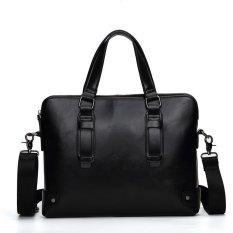 Toko Classic Britian Tote Single Shoulder Large Capacity Leather Business Bag Black Intl Murah Di Hong Kong Sar Tiongkok