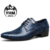 Harga Classic Men S Dress Formal Serpentine Oxfords Leather Shoes British Style Business Office Shoes Intl Yang Bagus