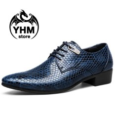 Harga Classic Men S Dress Formal Serpentine Oxfords Leather Shoes British Style Business Office Shoes Intl Branded