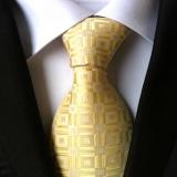 Ulasan Tentang Klasik Pria Bisnis Formal Tie Wave Point Kotak Kotak Periksa Polyester Sutra Dasi Kantor Komersial Vintage Pernikahan Dasi Kuning Intl