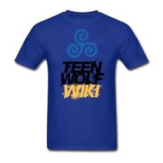 Klasik Pria Teen Serigala Wiki Rock dan Gulungan Kaus 90 S Pendek Sleevemales Modis Short Kaus Kostum Plus Ukuran biru-Internasional