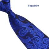 Beli Classic Paisley Mix Warna Jacquard Woven Silk Dasi Dasi Pria Royal Blue Terbaru