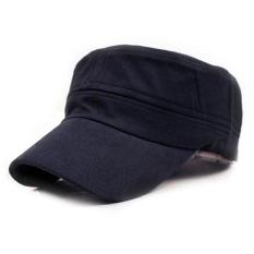 Taruna Militer Angkatan Darat Dataran Klasik Vintage Gaya Topi Katun Topi Yg Dpt Mengatur Biru Laut