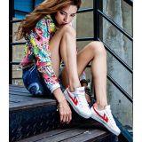 Toko Jual Classic Warrior Sneakers Sepatu Bola Basket Merah Dan Putih Warrior Wb 1 Intl