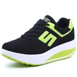 Beli Barang Classic Women Casual Leather Lace Up Breathable Sport Shoes Shake Fitness Running Sneakers Intl Online
