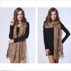 Harga Classic Women Long Leopard Print Soft Chiffon Shawl Scarf Scarves Wrap Stole Intl Oem Tiongkok
