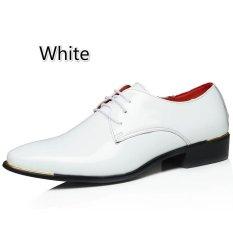 Pria Klasik Dress Flat Sepatu Mewah Pria Usaha Oxfords Sepatu Casual (Putih)
