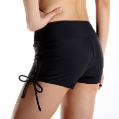 Jual Klasik Wanita Swim Tankini Boardshorts Beach B*K*N* Bottoms Dengan Adjustable Side Ties Hitam Intl Satu Set