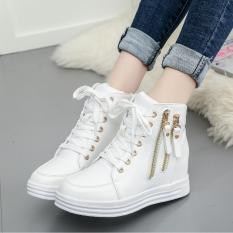 Spesifikasi Clay Sepatu Boot Kets Slting 2 Putih Dengan Tasli Tinggi Cocok Untuk D Jalan Santai Ter Lihat Elegan Merk Lokal Band