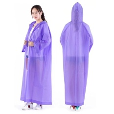 Clear Hooded Raincoat Ringan Lingkungan Ramah Eva Tahan Air Windproof Rain Coat Travel Hiking Climbing Poncho Pria Wanita 1232 (ungu) -Intl By Candy Star.