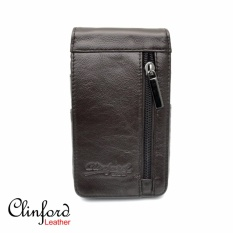 Clinford Dompet Kulit sarung HP / Handphone - Cilnford LZD 3208 coklat