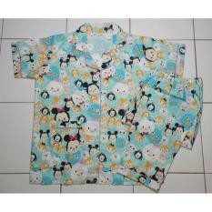 Katalog Cloth 88 Baju Tidur Piyama Wanita Setelan Celana Panjang Motif Tsum Character Biru Cloth 88 Terbaru