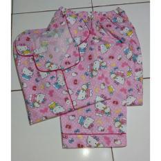 Cloth.88 Baju Tidur Wanita Setelan Celana Panjang Motif Hello Kitty