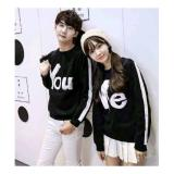 Diskon Besarclothing Anda Atasan Couple Semi Sweater You And Me Hitam
