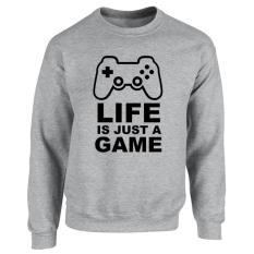 Beli Clothing Online Sweater Life Is Just A Game Abu Abu Kredit Dki Jakarta
