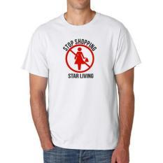 Clothing Online T-Shirt Stop Shopping- Putih