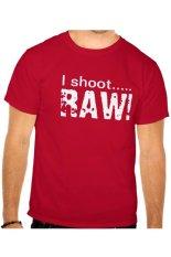 Clothing Online Tshirt I Shoot Raw - Merah