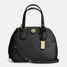 Coach 34940 Prince Street Mini Satchel Crossgrain Leather Black
