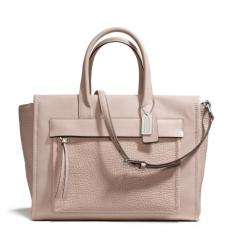 Coach Bleecker Leather Pocket Carryall - Taupe