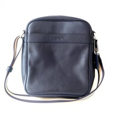 Diskon Coach Men S Flight Bag In Smooth Leather Crossbody F71723 Midnight Akhir Tahun