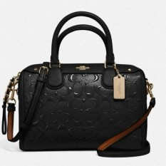 Tas Coach Mini Bennett Debossed Black F11920 Bag . Authentic Original Asli USA Store