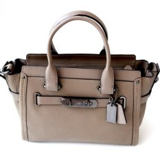 Harga Coach Swagger 27 In Pebble Leather Fog Coach Online