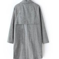 Coat Luaran Musim Dingin Winter Jaket Baju Korea Sweater Rajut Wool